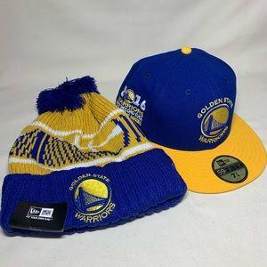 2 NBA Golden State Warriors hats